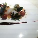 皿の上の自然il Gastro Sara - クレミーバイのカルパッチョ