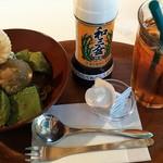 84607211 - 抹茶わらび餅パフェ \810+アイスティー ¥410