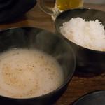 徳川ホルモンセンター - テールスープ(入場料:男性1,000円/女性700円外税に含む)