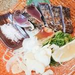土佐清水ワールド - 鰹の藁焼き塩たたき