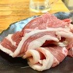 炭良ホルモン - ジンギスカン 肉のみ 890円