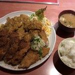 なにわ食堂 - 料理写真:チキンカツ定食(トリプル)♪