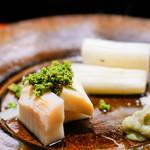 喰善 あべ - 筍とアスパラ