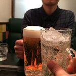 千房 - H.30.2.14.昼 ハイボール 450円税別 vs 生ビール 530円税別 de 乾杯♪