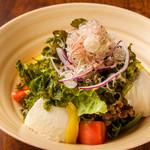 青さ海苔と豆腐サラダ