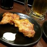 豊来軒 - 3品目は揚げたての鶏唐揚げ