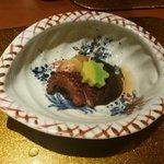 野菜割烹 あき吉 -  炊合せ:旬菜の炊合せ 新じゃが芋、茄子、南瓜、椎茸、楓麩、蛸