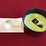 茶室麟閣 - 抹茶・薯蕷饅頭