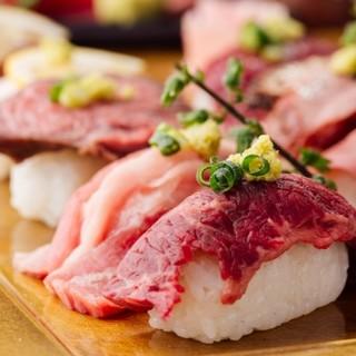【食べ放題】プランともりの肉祭り肉寿司6種食べ放題1980円