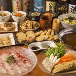 こめらく - 料理写真:鯛のしゃぶしゃぶ&鶏つみれ鍋コース