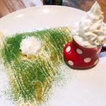カフェ ド ヴェール - 宇治抹茶ティラミス 京都北川半兵衛商店のお抹茶を使ったこだわりの一品です