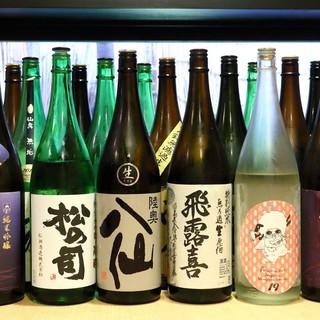 各地の蔵元を巡り選び抜いた日本酒を、多数ご用意しております。
