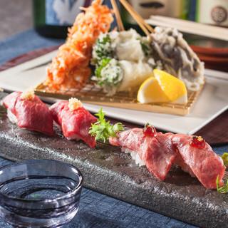 【季節のフェア】天ぷらと和牛寿司を堪能頂ける限定メニュー!