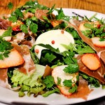 永福食堂 - 料理写真:モッツアレラと果物のサラダ