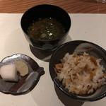 こふく - お食事(桜海老の炊き込みご飯)
