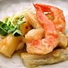 海老と春野菜の琥珀揚げ