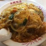 大龍飯店 - 当店自慢の中華風カツ丼(¥800)