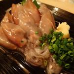 希少! 肝までまるごと食べられる「ホタルイカのお刺身」4月~5月頃