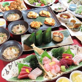 【鮮度自慢!】店内には水槽完備♪旬魚の海鮮料理