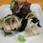 海鮮茶屋 やぐるま - 新鮮な貝の刺身