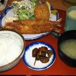 海鮮茶屋 やぐるま - エビフライ・エビカツ定食@1.200円