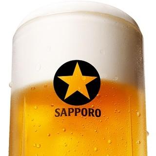【ライオンの生ビール】当店では、5種類の生ビールが飲み放題♪