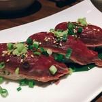 肉菜処和心 - 短角牛の握り寿司