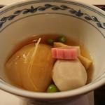 旅館花屋 - 煮物   新玉葱スープ煮