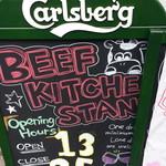 肉バル BEEF KITCHEN STAND - 店頭の立看板 *正しくは12時からやってます