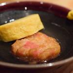 目黒日本酒バル いと。スタンド - 【おでん(3点)@500円+税】紅しょうが揚げ