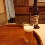 Hayashi - ビールは薄口グラスでの提供 201804