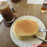 84658335 - ホットケーキ(\550)とアイスコーヒー(\480) \