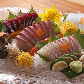 美味しい魚が食べられる。