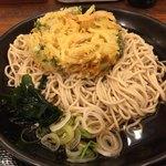 吉そば  - 冷やしかき揚げ蕎麦