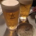 鳥芳 - 乾杯の生ビール