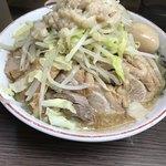 84666927 - ラーメン小 麺少なめ、アブラ・カラメ、煮卵