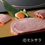 六歌仙 - お店イチオシ、上質なお肉を味わう『松阪牛サーロインの盛り合わせ』