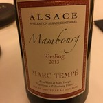 レストラン ラ フィネス - 2013 Marc Tempe Riesling Mambourg