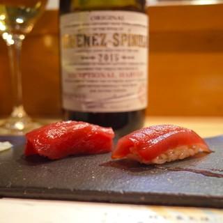 【熟成寿司】×【ワイン】。予想外のマリアージュに魅了される