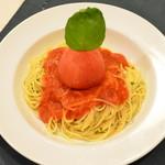 A DAY~こころの灯り家~ - 【丸ごとトマトのペペロンチーノ】フレッシュトマトを丸ごと使った他所では食べれないペペロンチーノ!