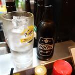 晩杯屋 - ホッピーセット(370円)、ナカ220円