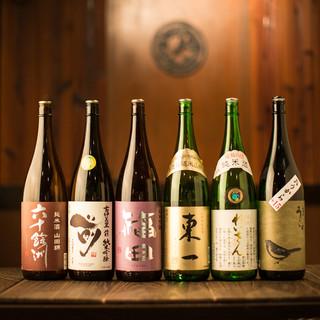 厳選した九州各地の美味い焼酎・日本酒を豊富に品揃え中!