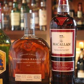 【約130種以上】種類豊富なウイスキー