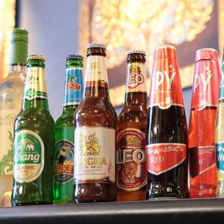 タイのビールやワイン、紅茶をお楽しみあれ♪日本酒や焼酎も◎