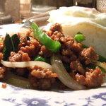 タイ国料理 ナムティップ - ひき肉とバジルの炒めご飯。