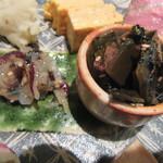 一東菴 - 「生くらげの梅しそ和え・昆布と海苔の土佐煮」