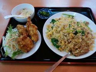 天紅 - 「豚バラ肉と青菜炒飯セット」