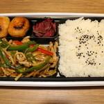 大連餃子基地 - オイスターソースの 青椒肉絲弁当