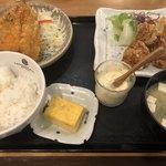キッチン 中田中 - 選べるセットおかず2品1,050円 鶏の唐揚げ、アジフライ