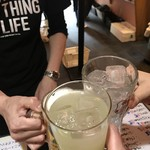 もみじ - まずは3人で乾杯\(^o^)/